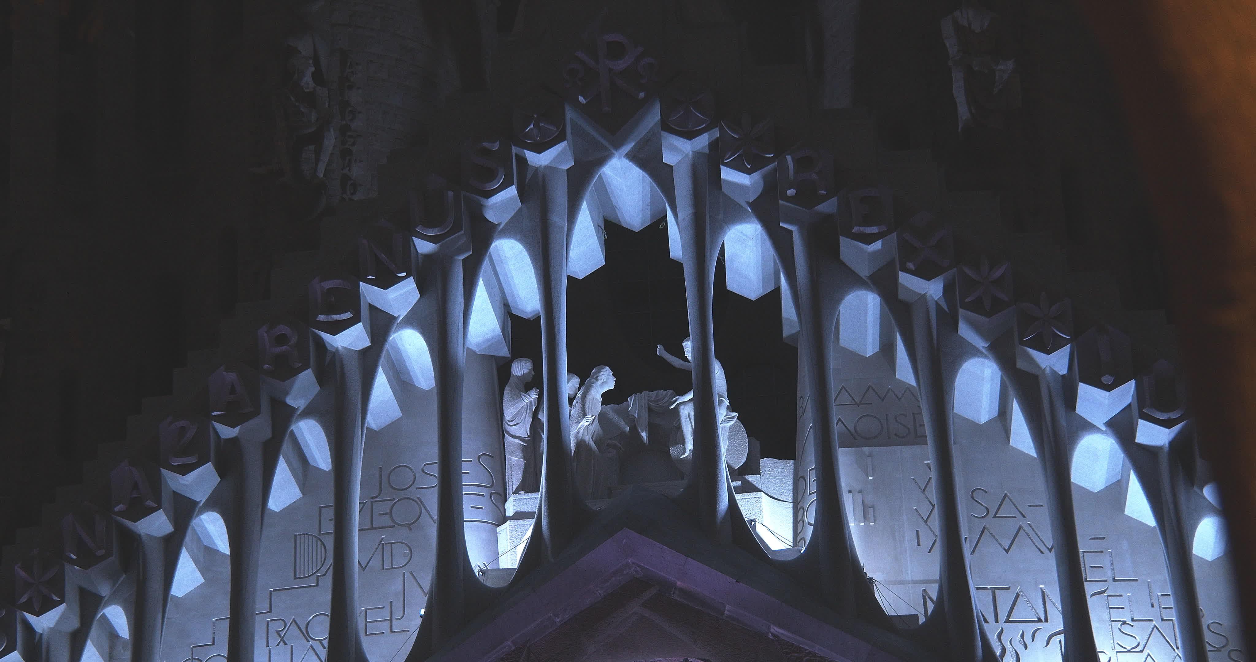 'Sagrada Familia' Temple Illuminated During Easter