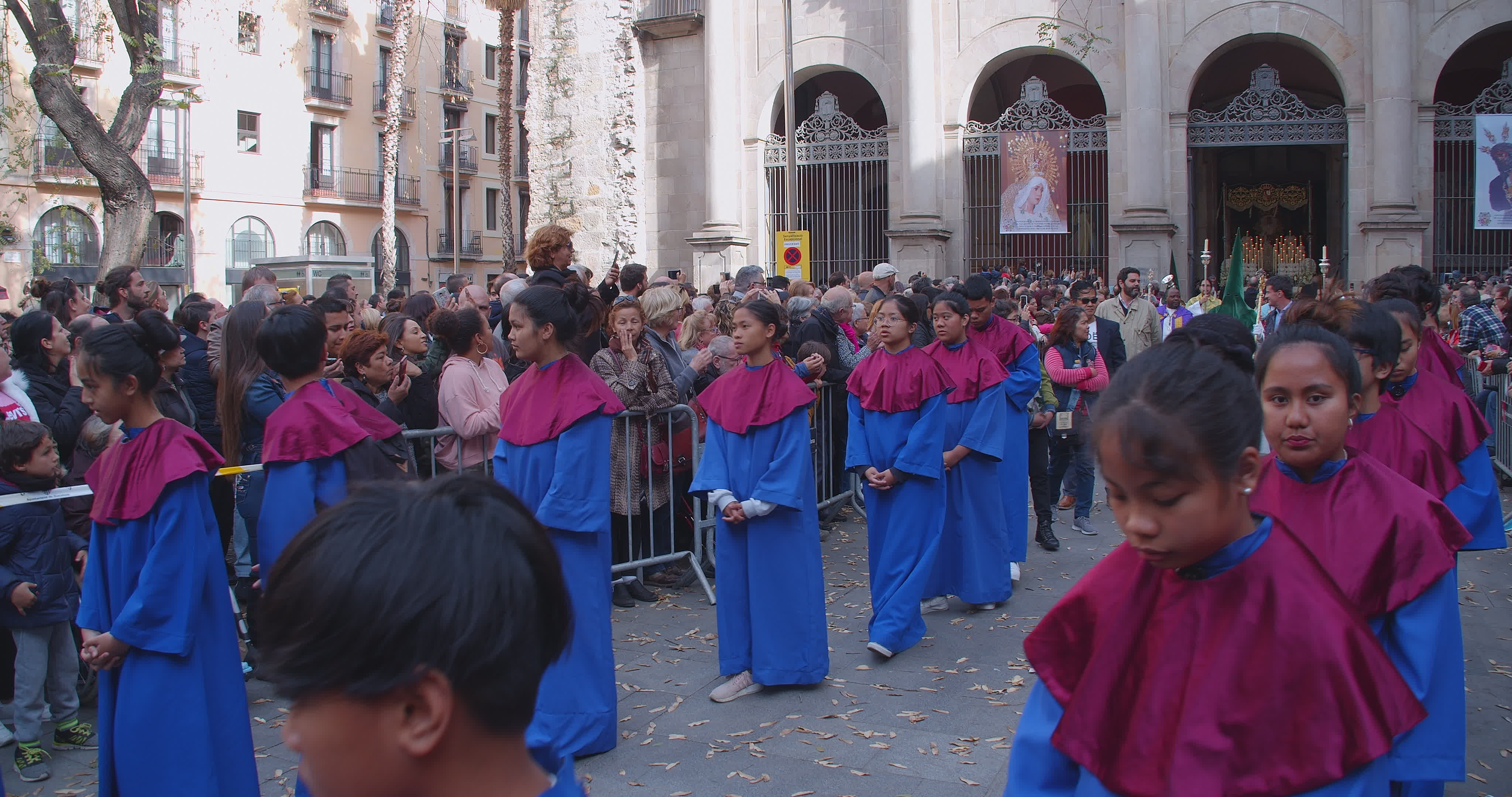 Good Friday Procession In Barcelona