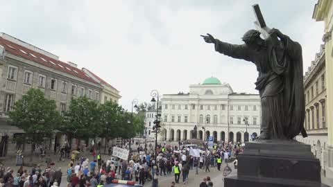 Demonstration For Disability Benefits In Warsaw