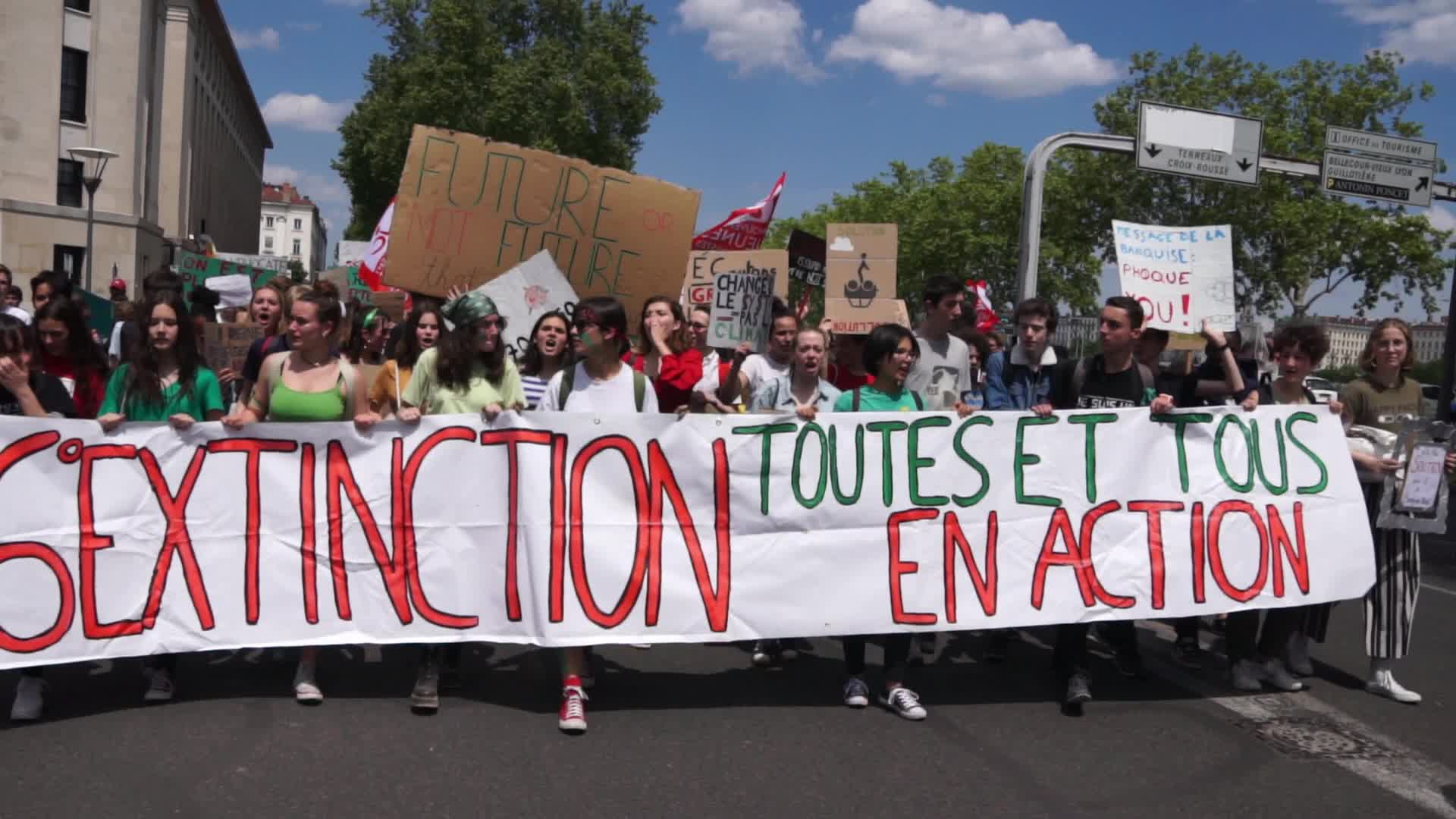 Demonstration Against Global Warming At The Initiative Of The Youth For Climate Association