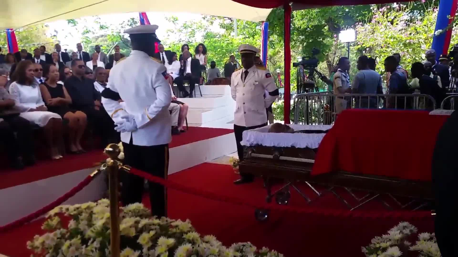 Thousands gather to mourn former Haitian president Preval