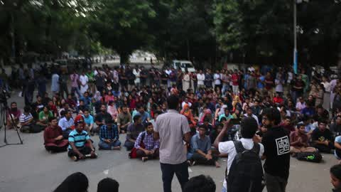 University Student Protest in Dhaka