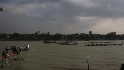 Traditional Boat Race in Dhaka