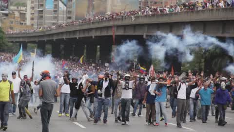 Anti-Government Protest In Caracas