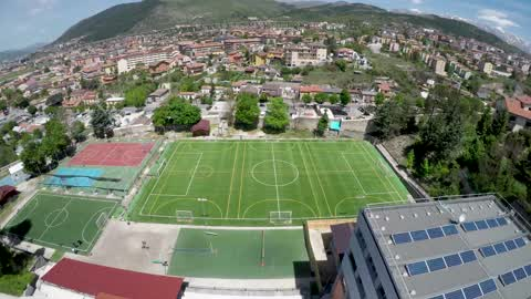 Drone View Of Don Bosco L'Aquila