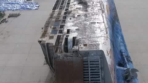 Sunken Ferry Sewol Drone Shot