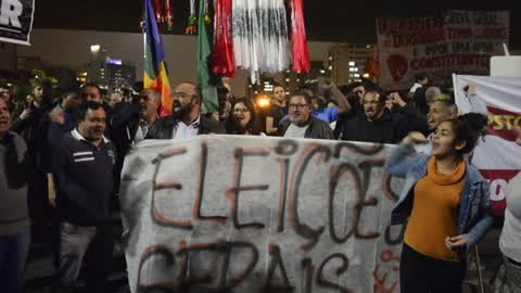Demonstrators Protest As Alleged Taping Of Temer Fuels Resignation