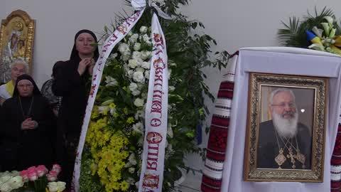 Funeral ceremony for Ukrainian Cardinal Lubomyr Husar in Kiev