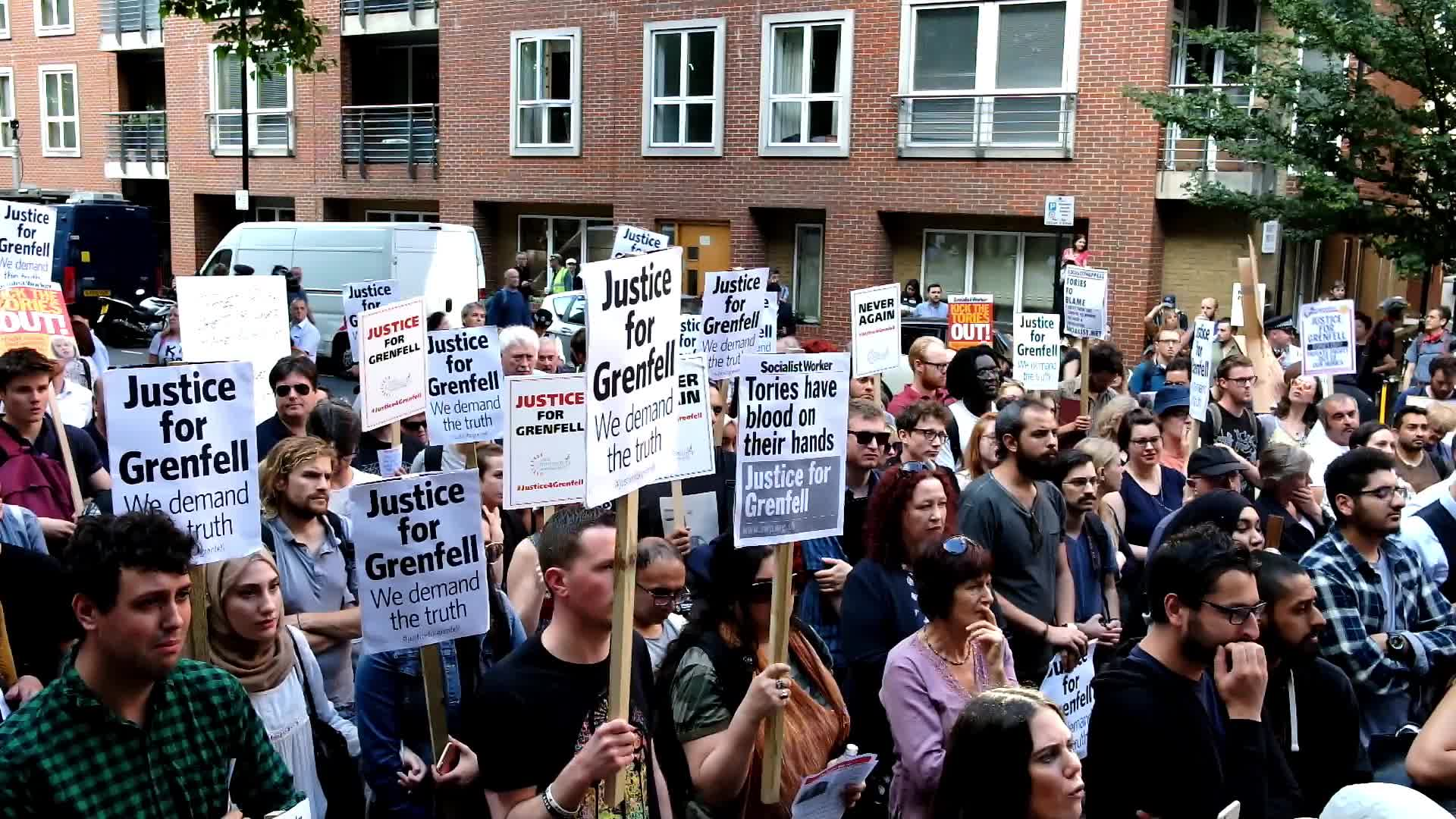 Mounting Despair And Anger As Residents Of Grenfell Tower Seek Answers