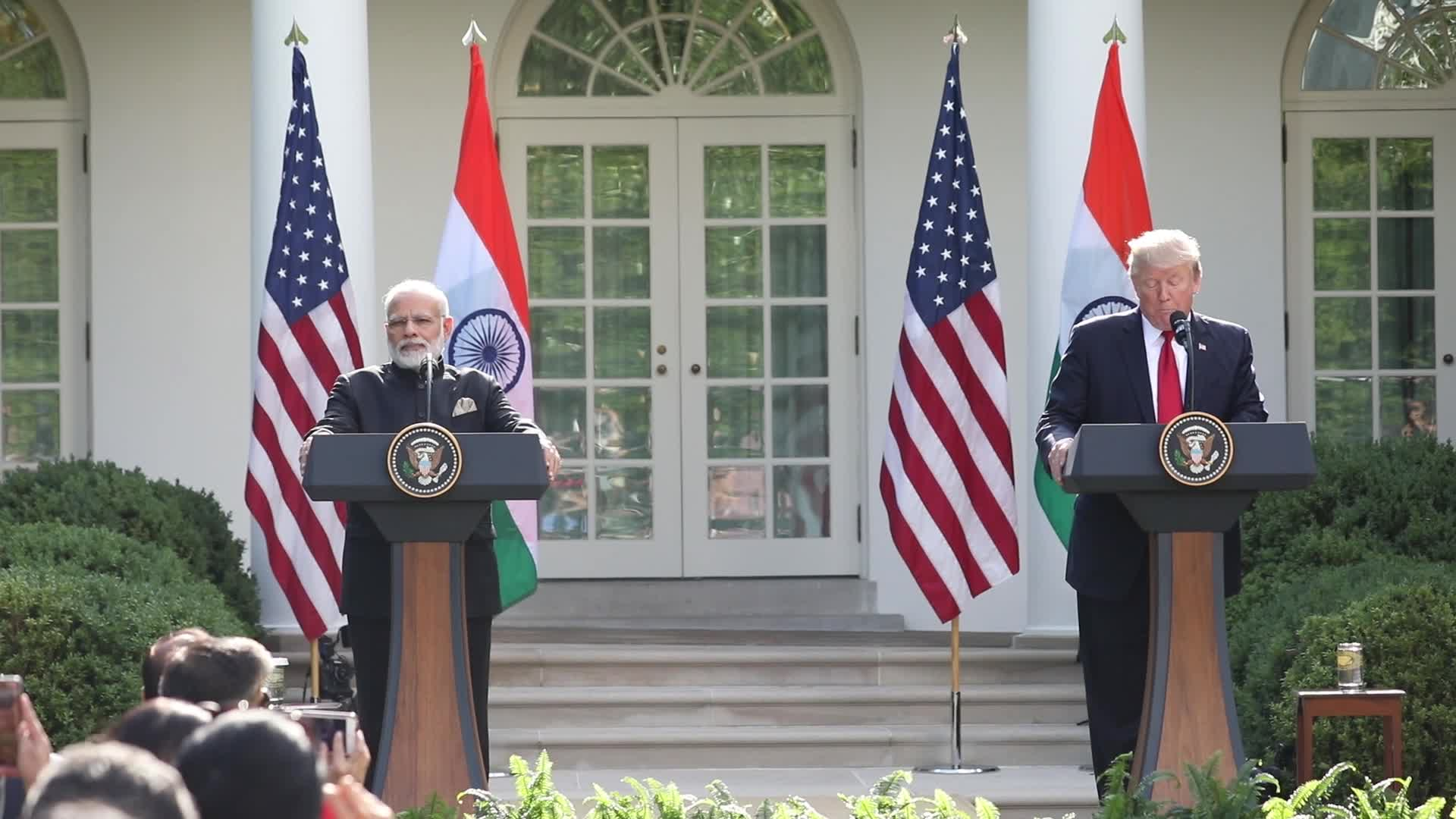 President Trump And Indian PM Modi Hold Joint Statement At White House