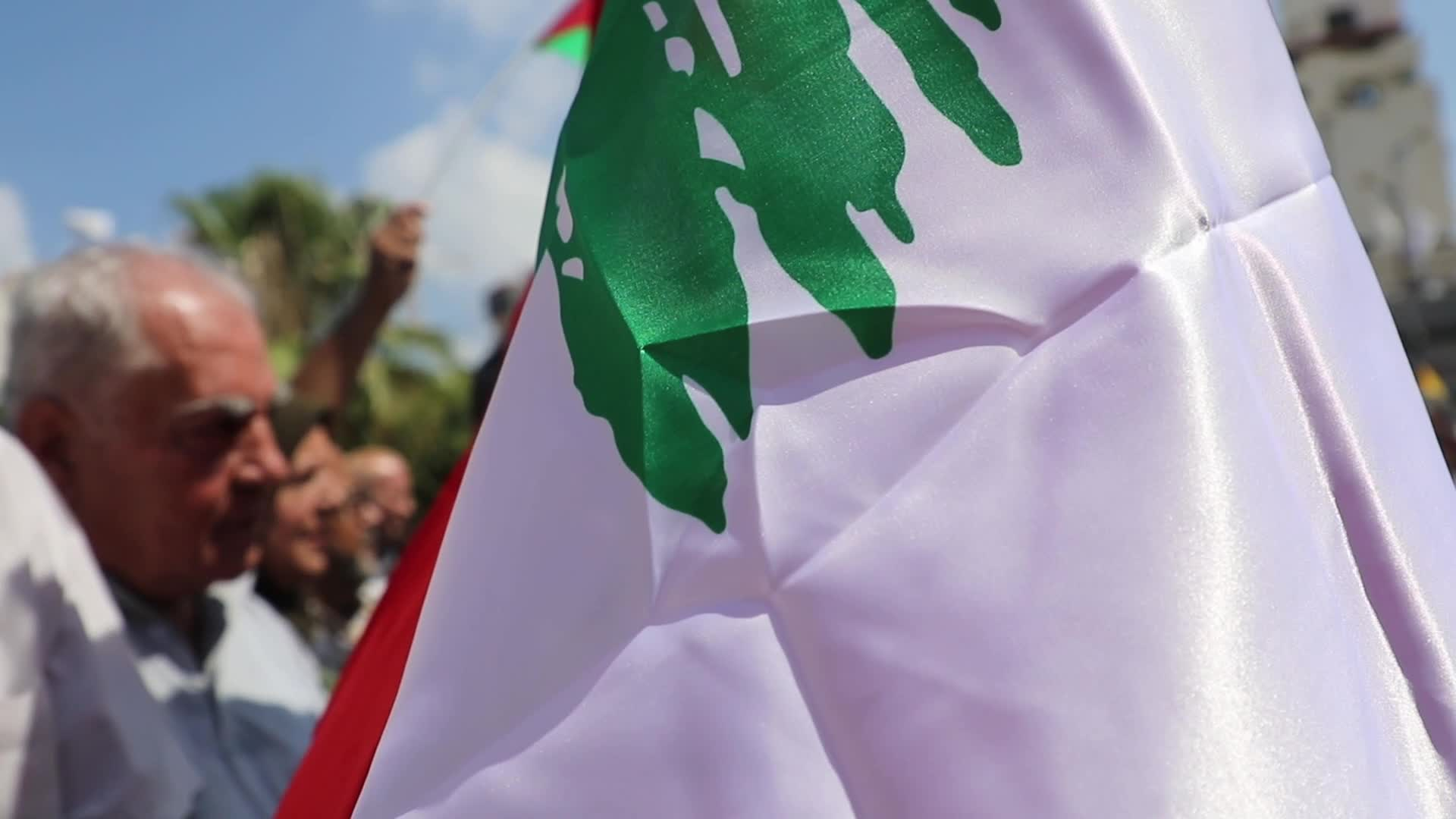 Palestinian march in solidarity with Lebanon