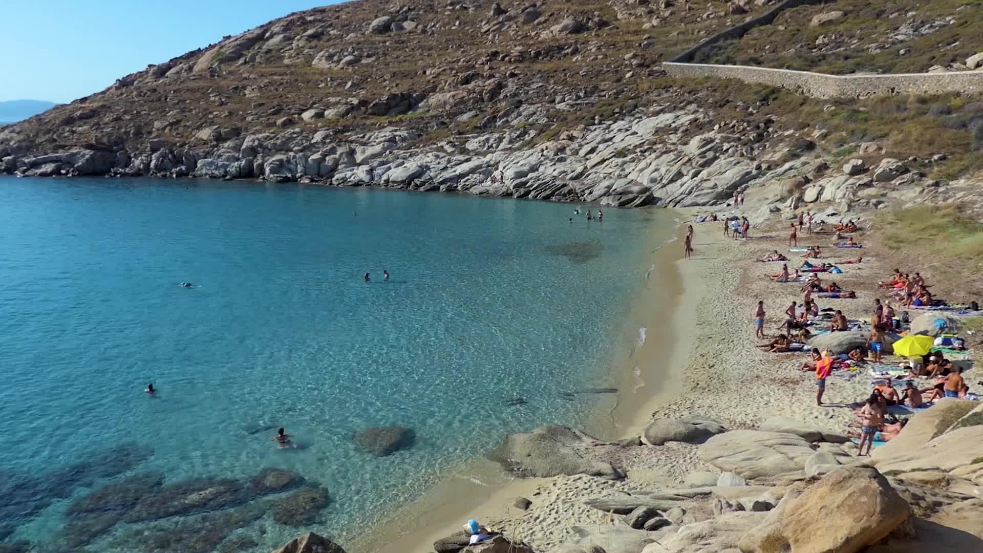 Kapari beach in Mykonos Island in Greece