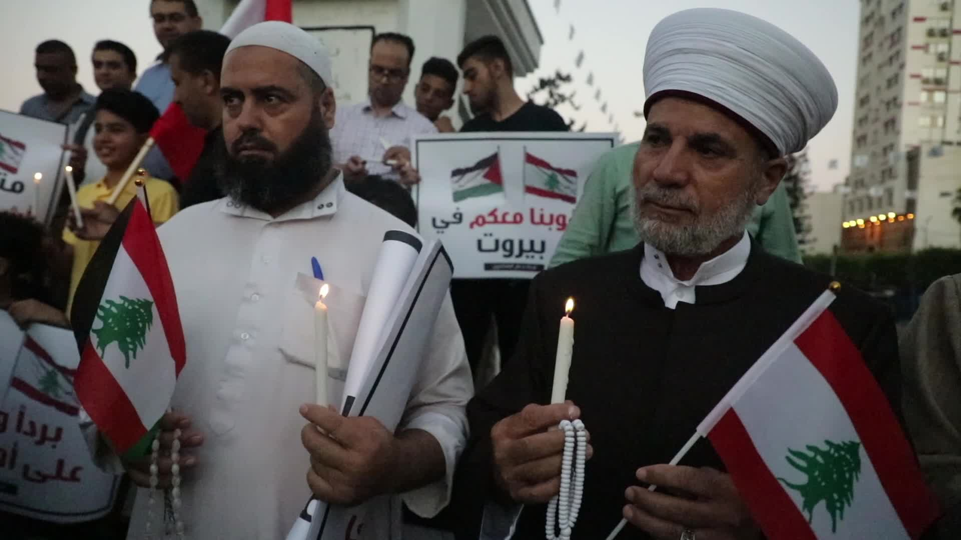 Candlelight vigil in support of Lebanese community following the explosions at Beirut port