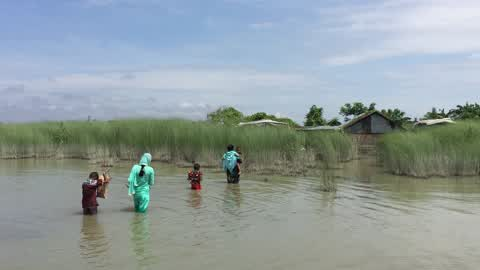 Flood in Gaibandha, Bangladesh