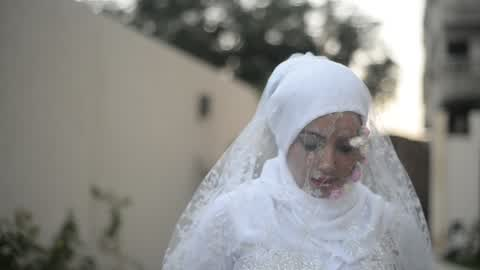 Campaigning to support cancer patients For marriage in Gaza City