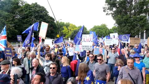 Peoples March for Europe, London, UK