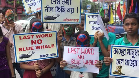 Protest Against Blue Whale In India