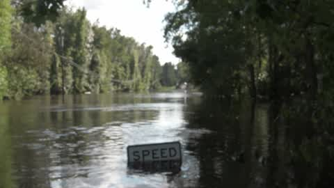 Severe flooding after Hurricane Irma in Middleburg, FL