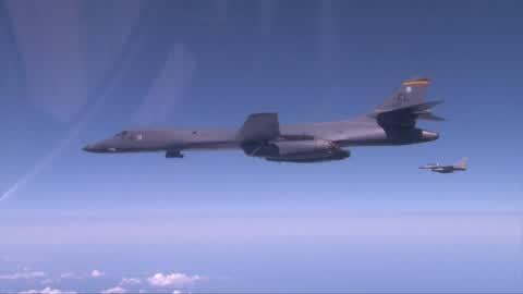 US Air Force Flight near Korean Peninsula