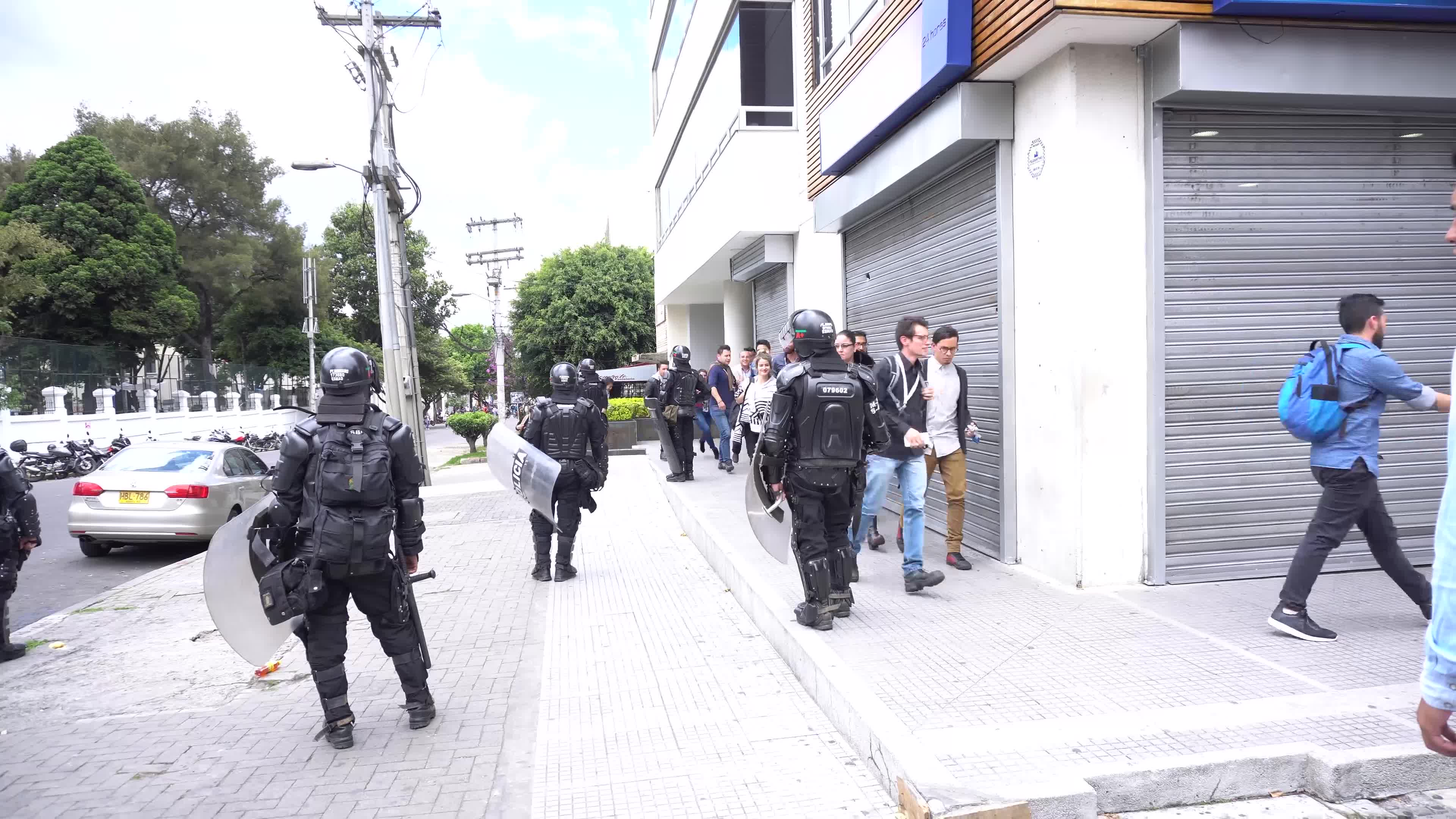 Riots in the Pedagogical University in Bogota