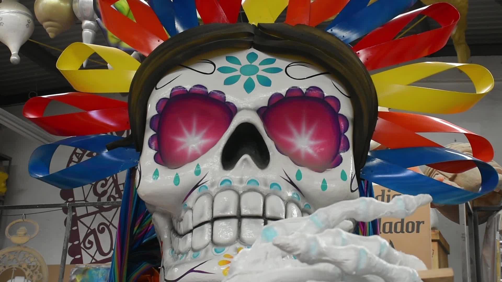 The Dead Parade preparation in Mexico city