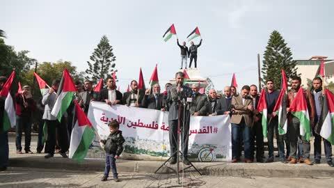 Palestinians Protest Against Trump's Jerusalem Decision
