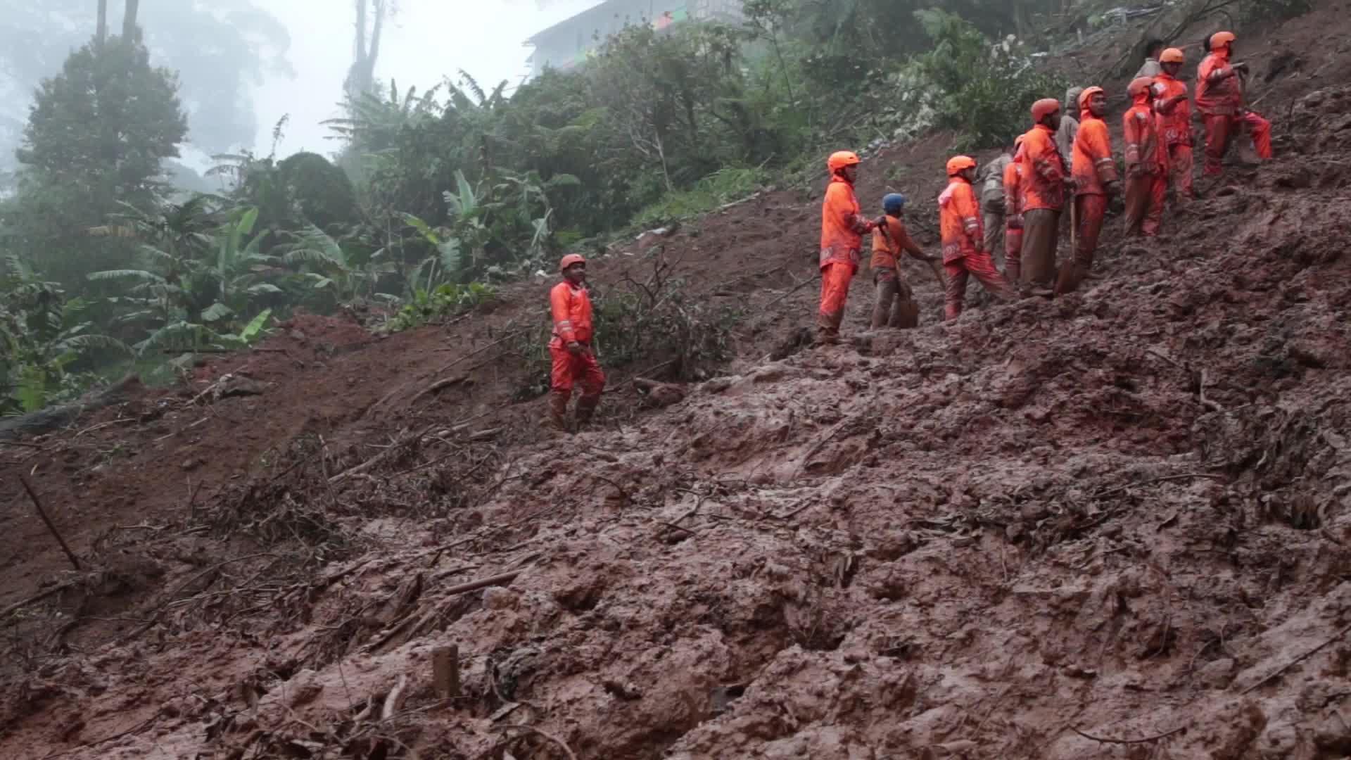 Landslide victim evacuation at Bogor, West Java