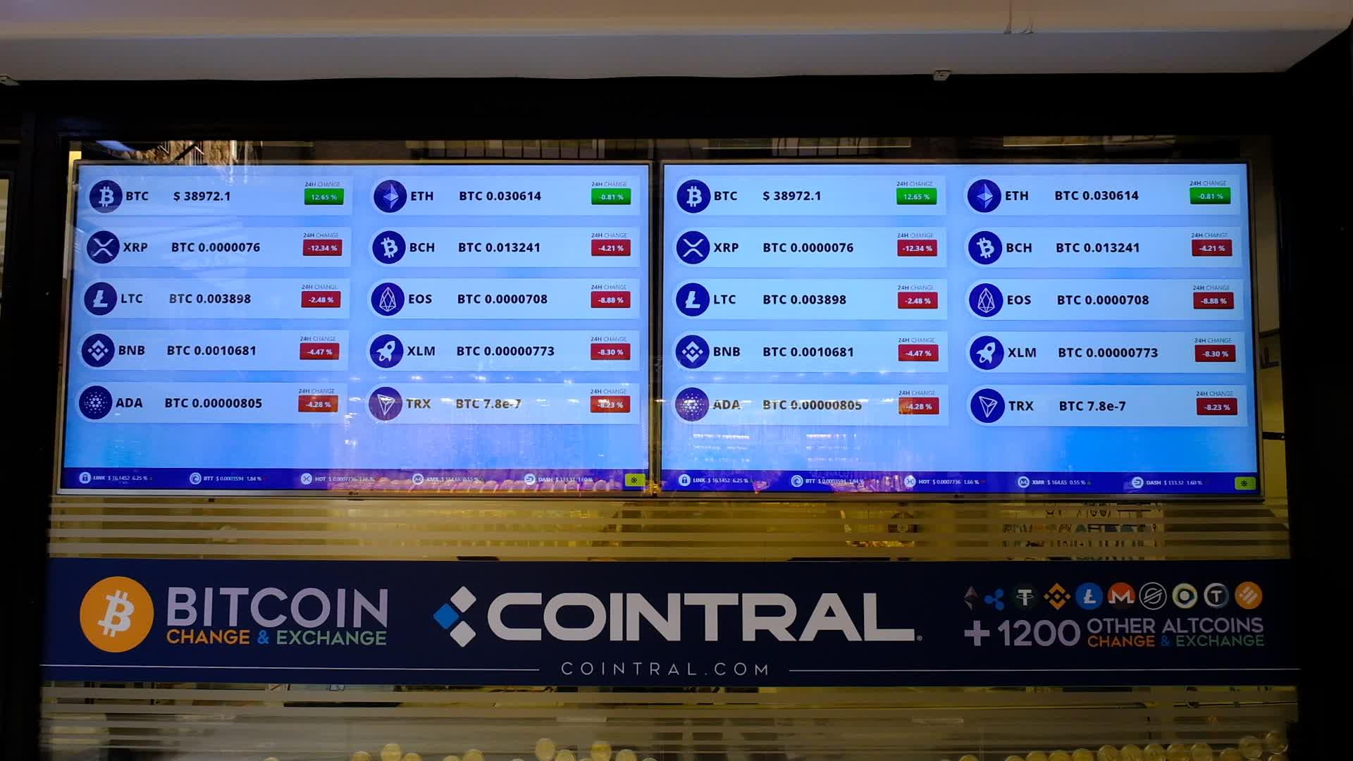 Bitcoin exchange office