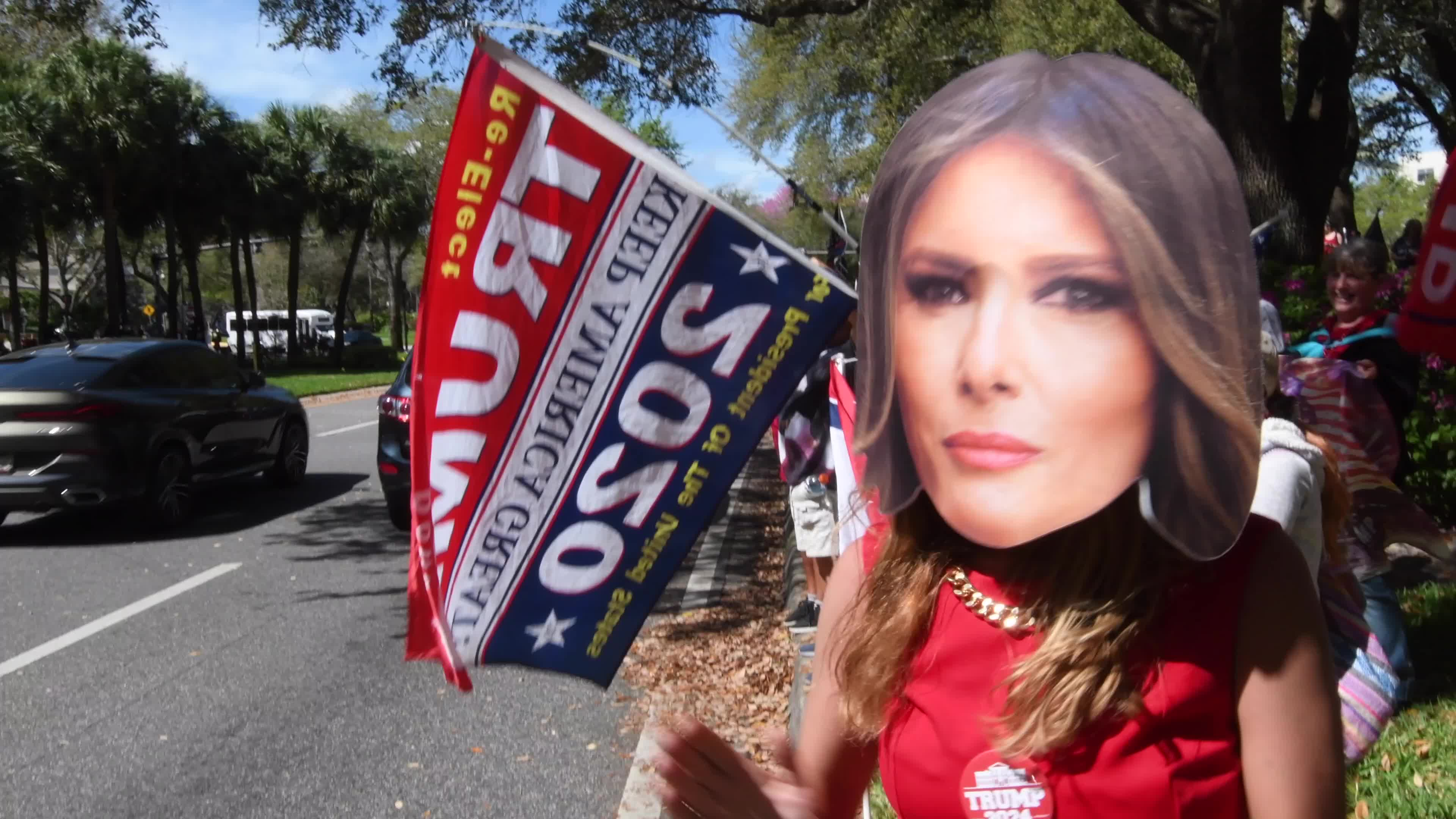 Trump Supporters Rally at CPAC in Orlando