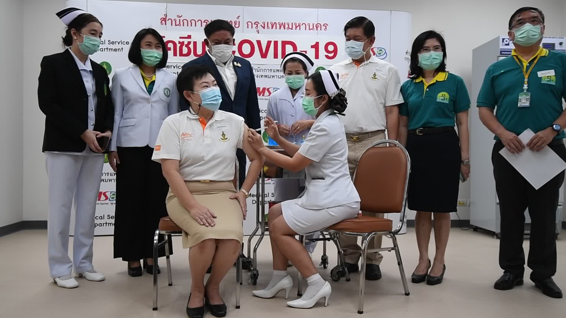 First Batch Of Coronavirus Vaccines Administered To Health Workers In Thailand