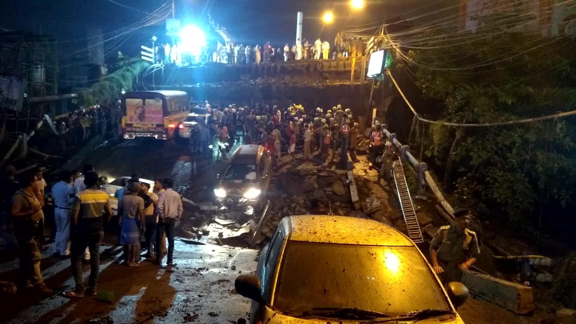 Majerhat Bridge collapses in South Kolkata
