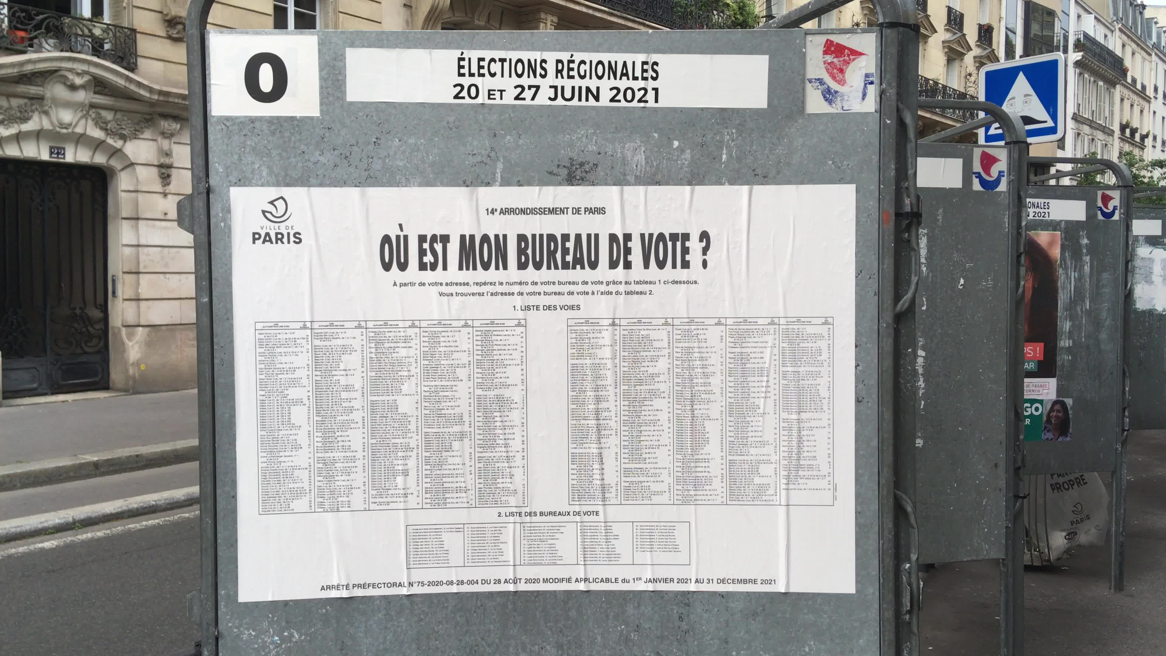 First round of the French regional elections in Paris
