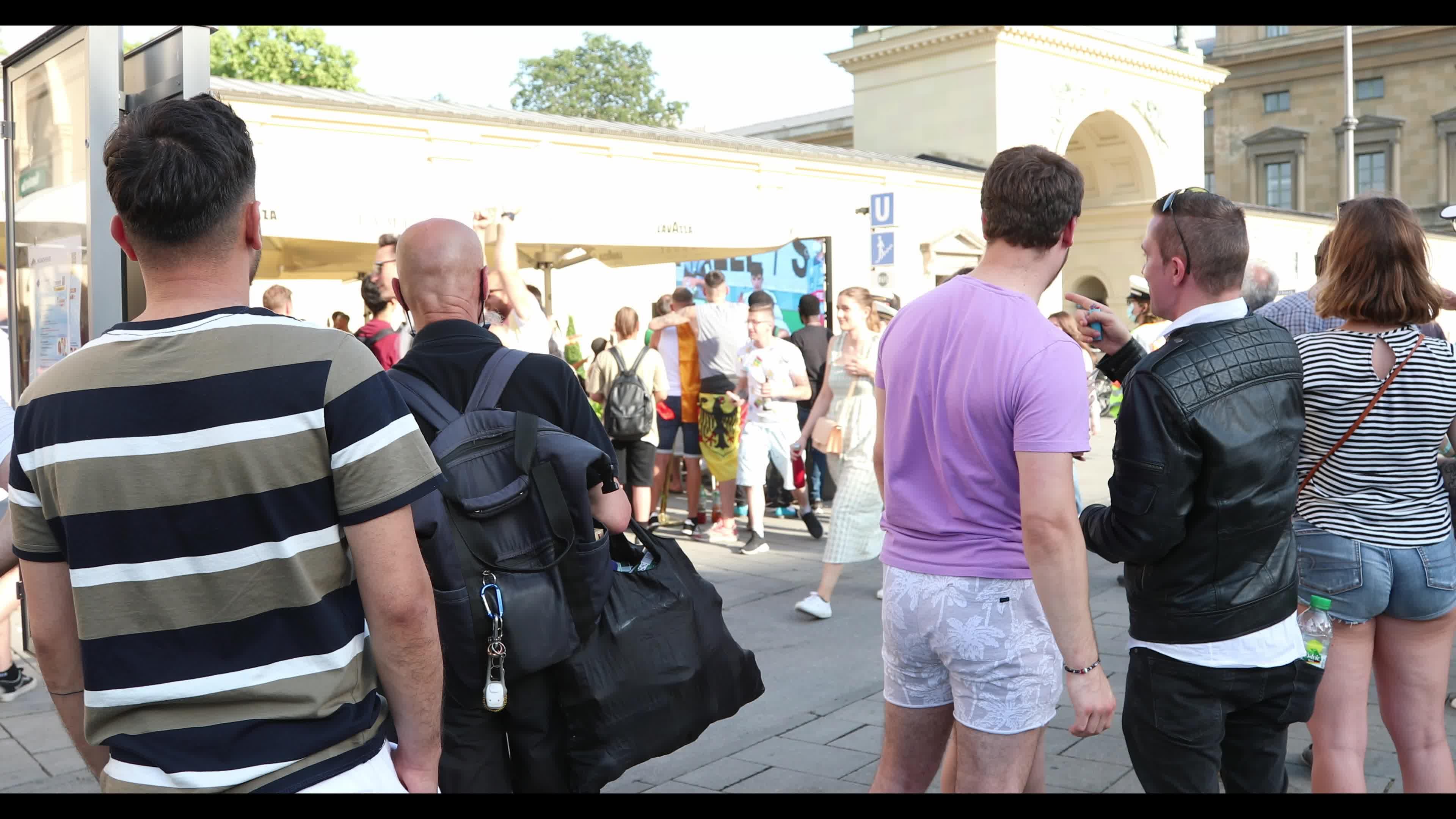 Football fans watch Euro 2020 match Germany – Portugal in Munich