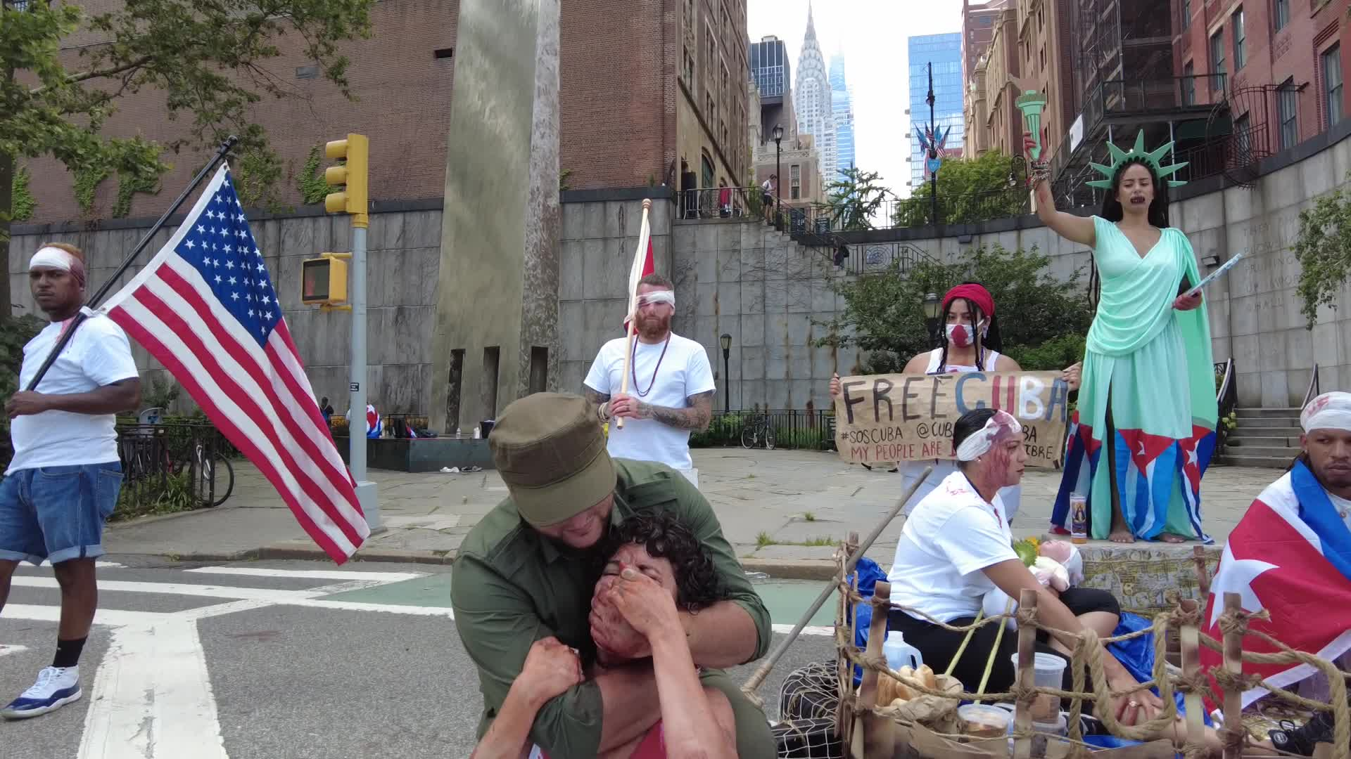 NY: New Yorkers Show Solidarity With Cubans Seeking Political Change