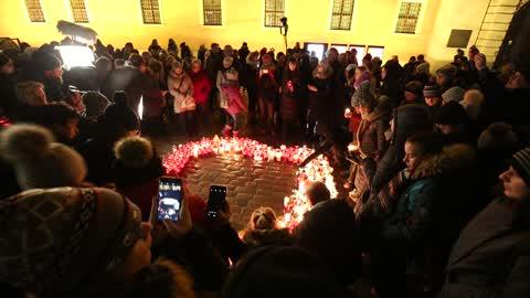 Commemoration for murdered Gdansk mayor Adamowicz