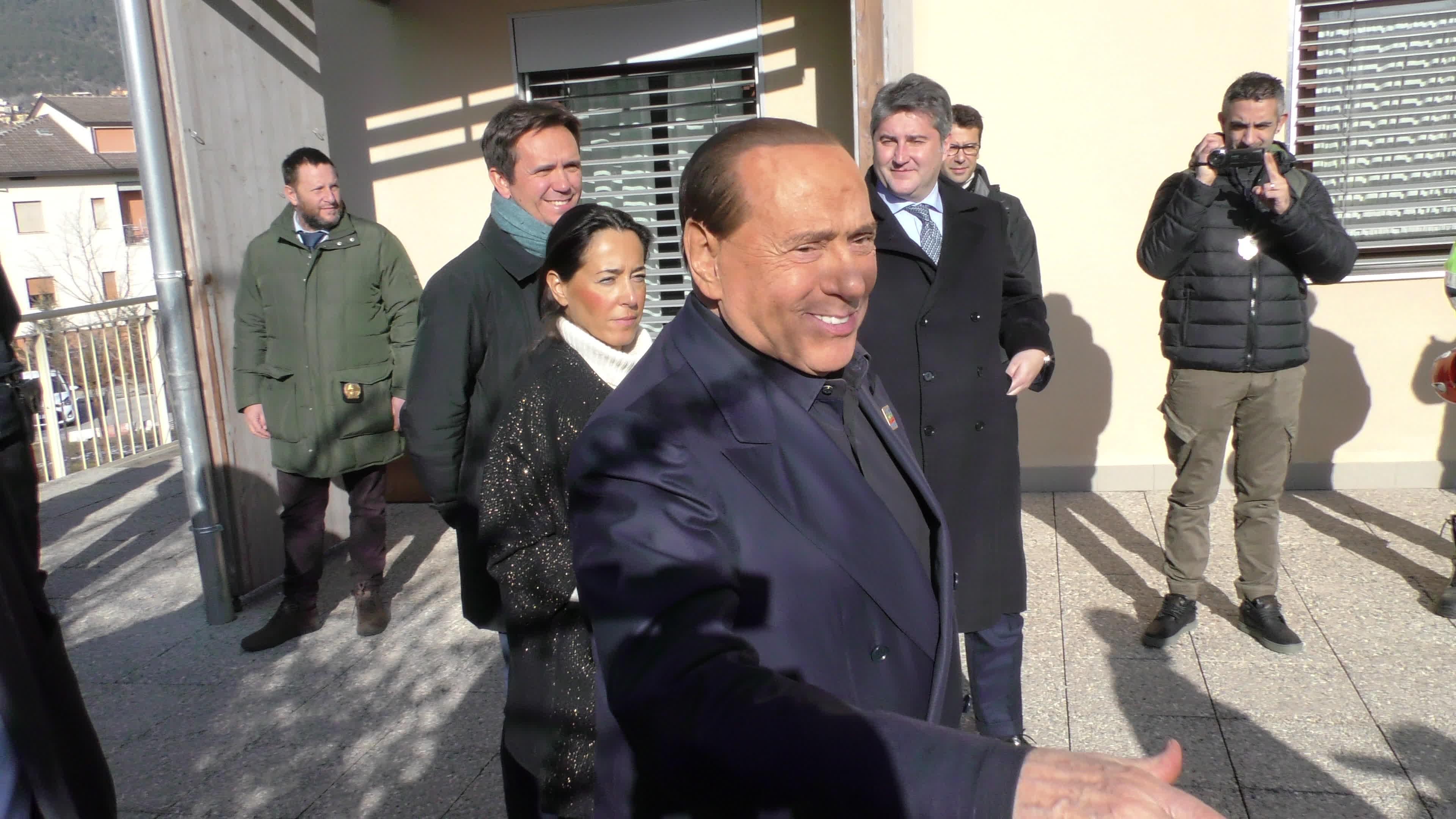 Silvio Berlusconi Visits L'Aquila