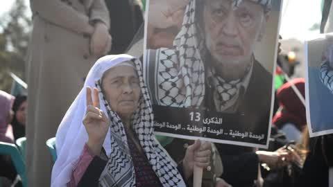 Rally marking the death anniversary of Yasser Arafat